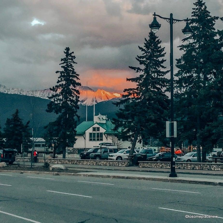 Jasper Downtown - at sun set
