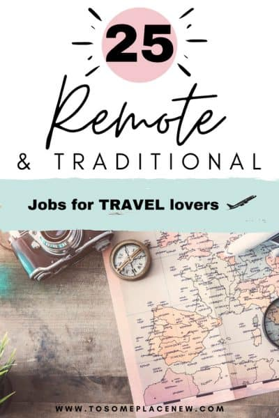 Pin for jobs for travel lovers