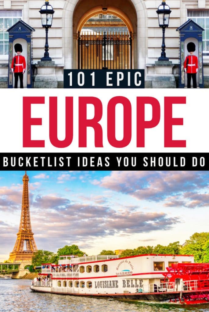 Ultimate Europe bucket list places to visit in this year | Europe travel bucket list destinations | Europe bucket list cities and Europe bucket list countries to add to your itinerary