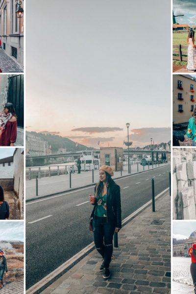 What to wear in Europe? Picture of a girl wearing different outfits in different seasons in Europe. Are you planning a trip to Europe? Check out this article for Europe Travel checklist and tips to help you get ready for Europe travel - Europe Planning 101