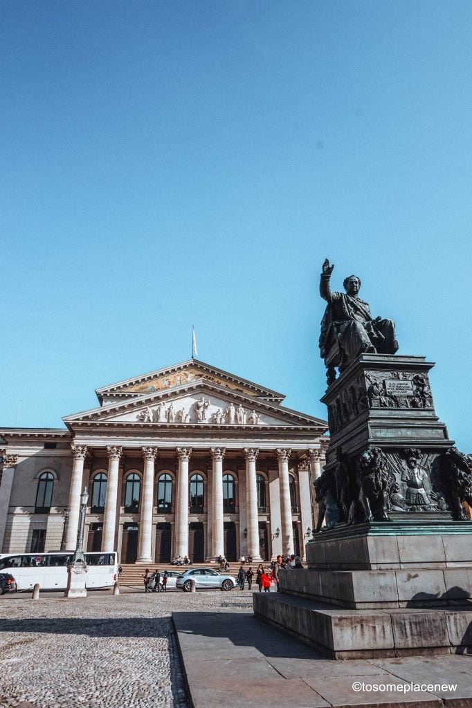 Opera House on Max- Joseph Platz in Old Munich, Germany