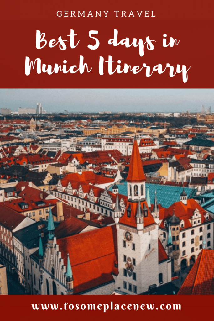 The BEST 5 days in Munich Itinerary. Read a day-by-day list of popular places like Marienplatz,English Gardens,day trips to Nuremberg, Dachau, Fussen & more #munich