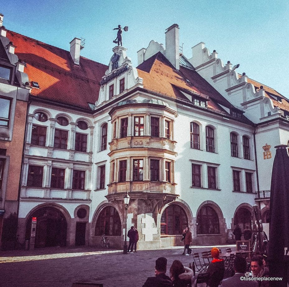 The Hofbräuhaus am Platzl is the royal brewery hall in Munich. The beer hall dates back to 1589