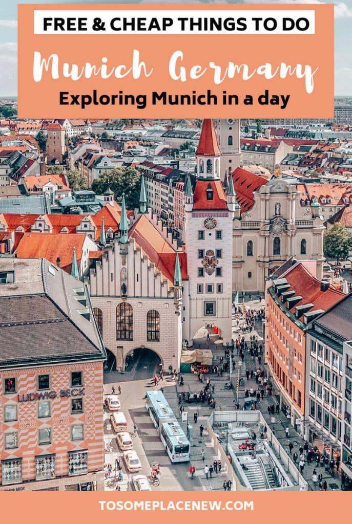 Munich Germany Travel guide with Munich Germany Things to do for free | Munich in a day | Munich beautiful places Marienplatz wanderlust | Munich Bavaria Trips | Munich germany destinations ideas #munich #germany #traveltips