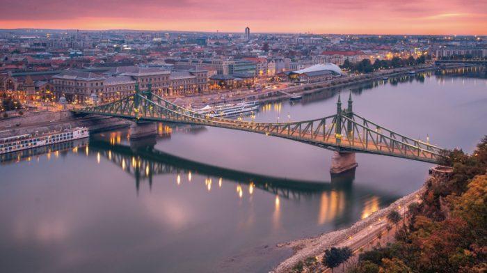 Bridges over river Danube in Budapest