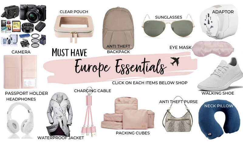 Shop traveling gear for Europe