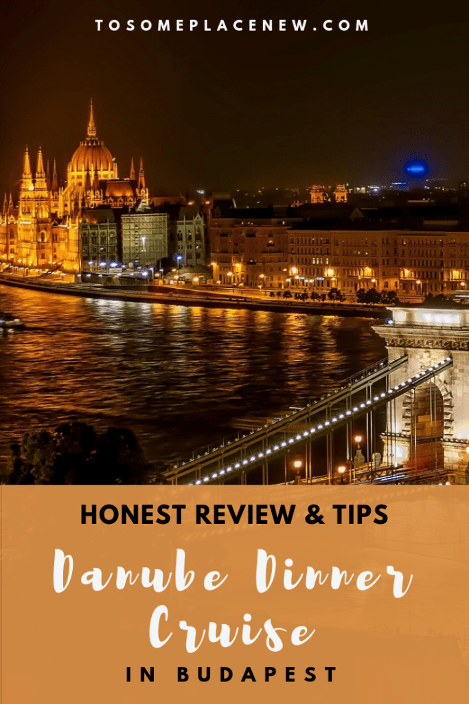 Review of the Danube dinner cruise Budapest - stunning views of the bridges and the Parliament, all in nights glory whilst enjoying a 3 course meal #danube #rivercruise #budapest