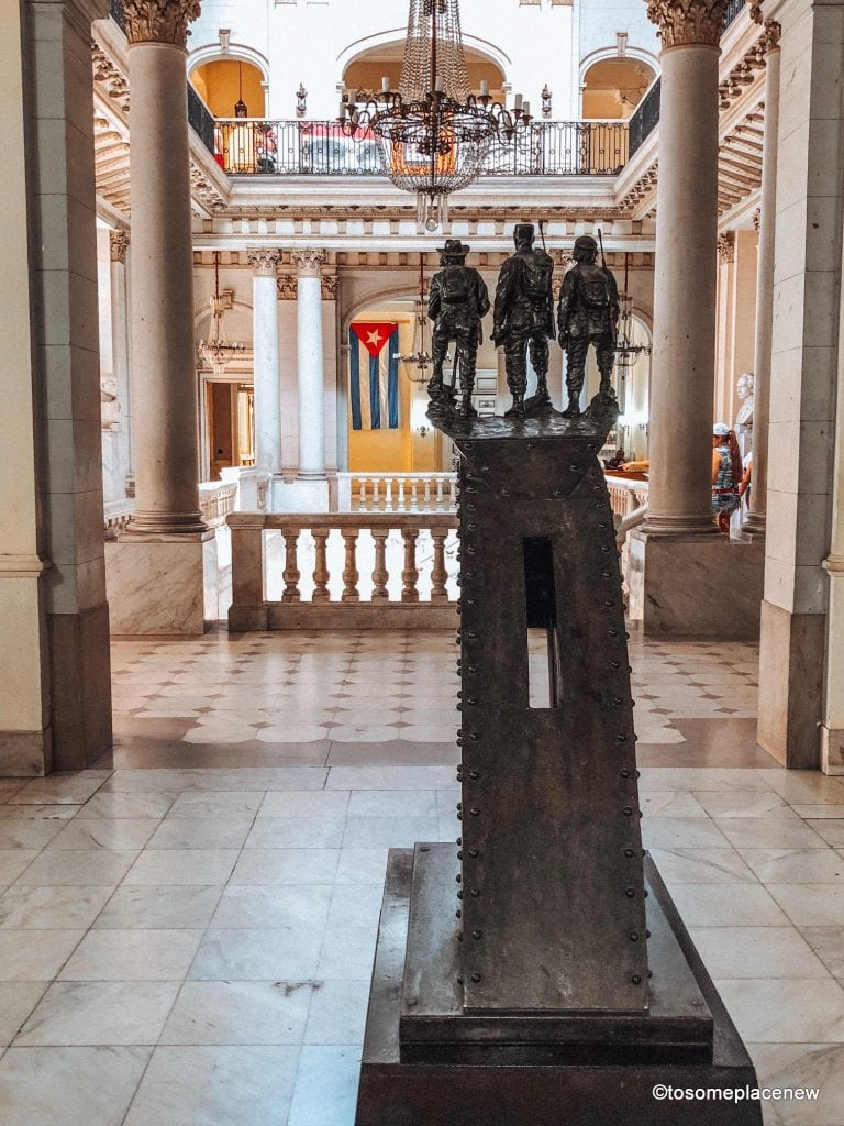 Inside of the Museum of the Revolution. Beautiful pictures of Havana Cuba. Havana is a photographer's dream and every street in Cuba showcases the interesting past, its beautiful people and amazing architecture #havana #cuba