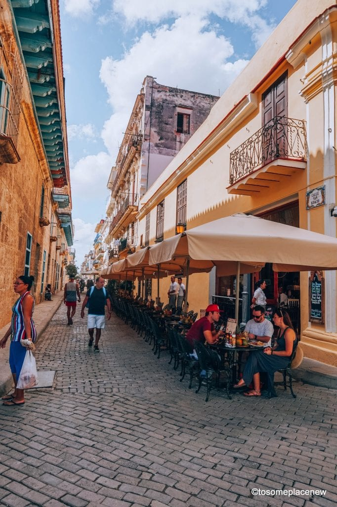 Cafes in Old Havana Cuba. Beautiful pictures of Havana Cuba. Havana is a photographer's dream and every street in Cuba showcases the interesting past, its beautiful people and amazing architecture. Be sure to add these spots to your Cuba travel itinerary. #havana #cuba