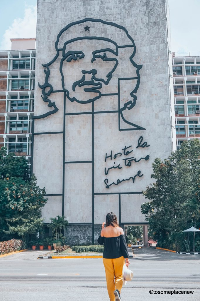Plaza de la Revolution Havana. Beautiful pictures of Havana Cuba. Havana is a photographer's dream and every street in Cuba showcases the interesting past, its beautiful people and amazing architecture. Be sure to add these spots to your Cuba travel itinerary.  #havana #cuba