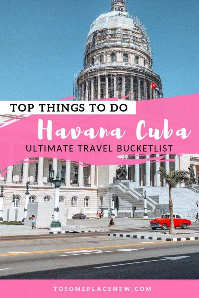 Havana Cuba things to do and unforgettable experiences. Havana Cuba bucketlist items include classic American car ride, learning to make Mojito, watching an amateur boxing, Hamel Alley (Afro Cuban traditions), food and more. This is your ultimate Havana Cuba travel guide. #havana #cuba #thingstodo #travelguide