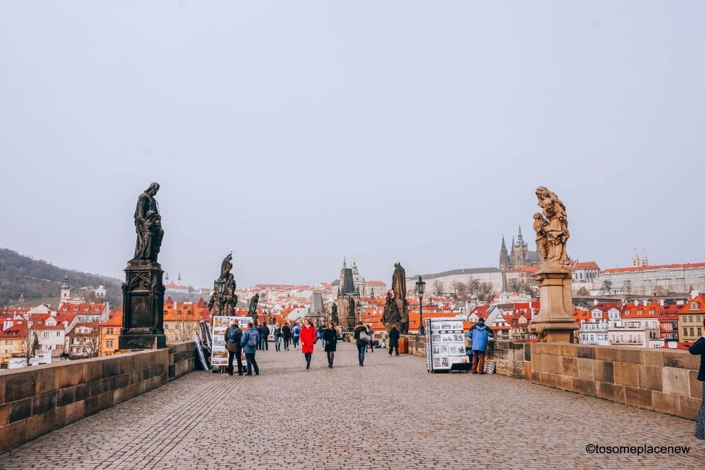 Visit the Charles Bridge in Old Town Prague, one of the most iconic symbols of Prague, Czech Republic #prague
