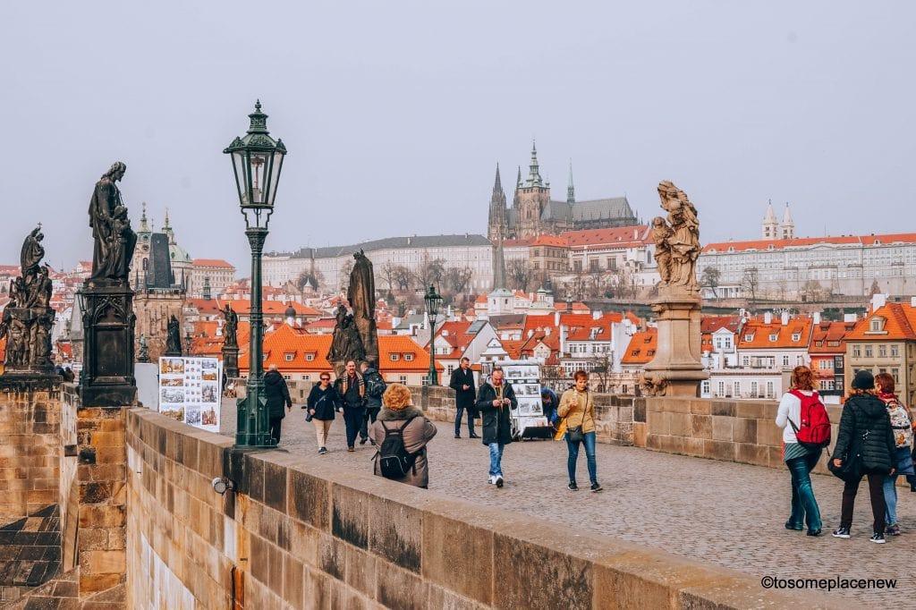 This is Charles Bridge in Prague Old Town on a spring morning #Prague