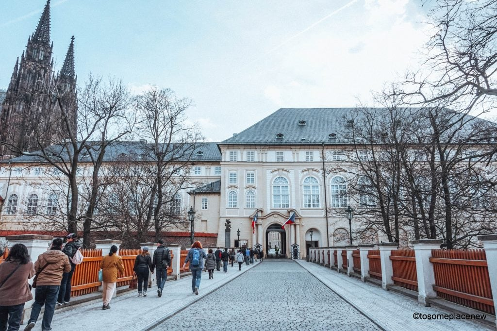 Entrance to the Prague Castle and the Czech Presidential Residence #prague