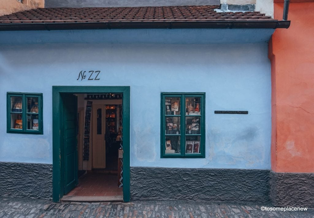 House no 22, Kafka House located on the Golden Lane, Prague Castle District #Prague