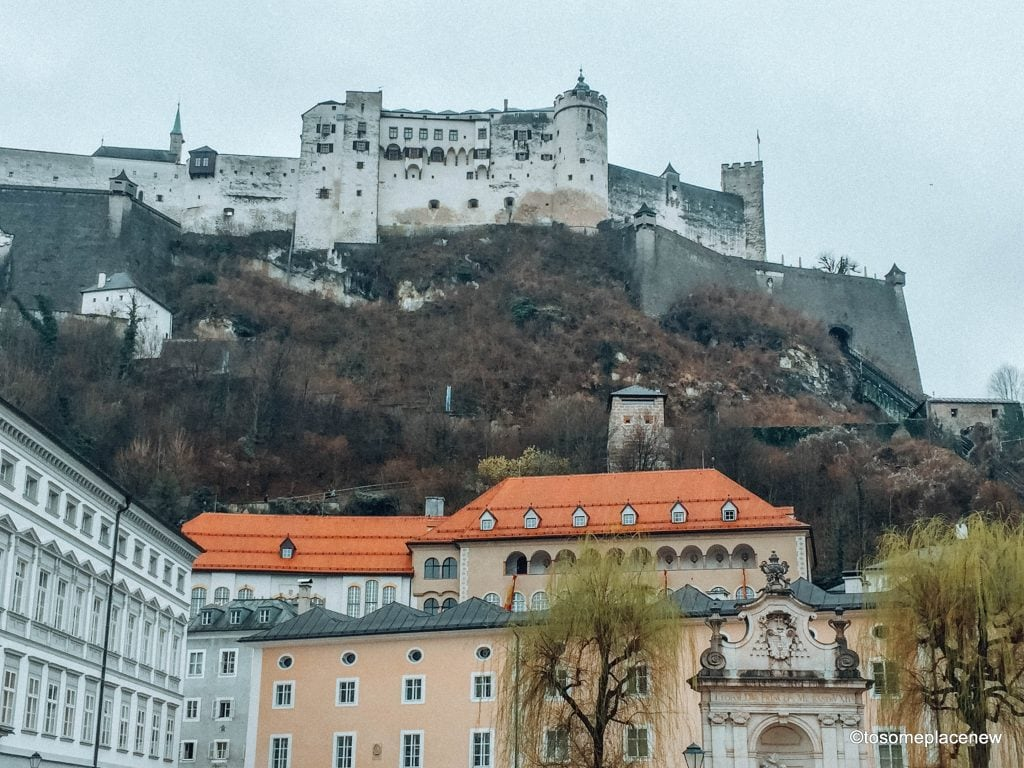 Perfect Salzburg Itinerary 2 days - explore the old town including Mozart's birthplace, amazing views from Hohensalzburg Castle, Furst chocolates & more.