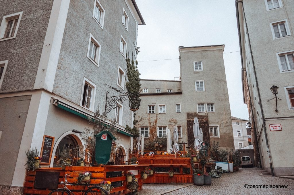 Mozart Birthplace Mozart Restaurant Perfect Salzburg Itinerary 2 days - explore the old town including Mozart's birthplace, amazing views from Hohensalzburg Castle, Furst chocolates & more.