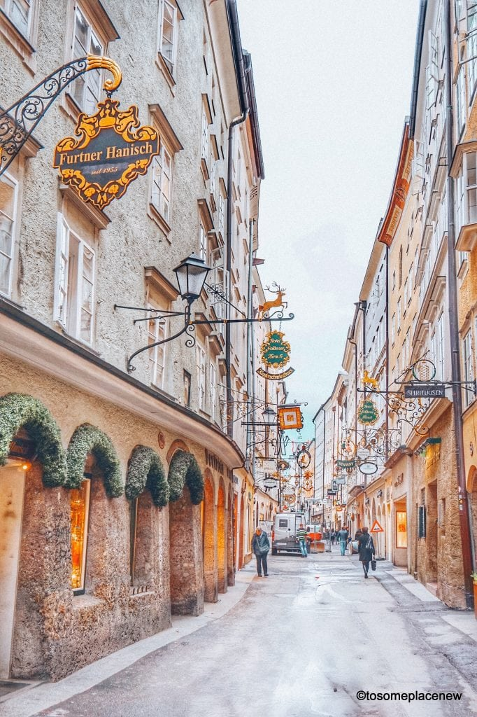 Geteidegasse Explore the best of Salzburg in 2 days. An ideal Salzburg itinerary -use this as standalone trip planner or as an add-on to your other European destinations