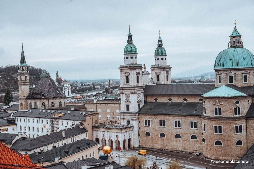 Salzburg Cathedral or Salzburger Dom Perfect Salzburg Itinerary 2 days- add this itinerary as a standalone trip to Salzburg Austria or as an add-on to Vienna, Prague or Munich Travel Itinerary.