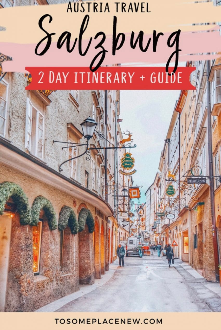Salzburg Itinerary 2 days pin