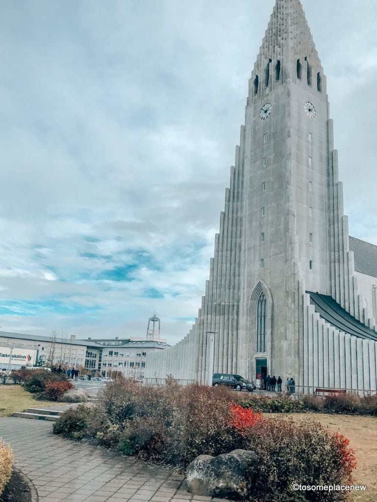 Hallgrímskirkja Chase waterfalls & northern lights,soak in geothermal spas, meet horses & pluffy sheeps & explore Reykjavik's colorful lanes in your 3 day Iceland Itinerary