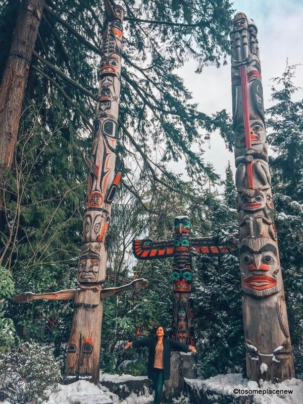 Totem Poles at Capilano Suspension Bridge