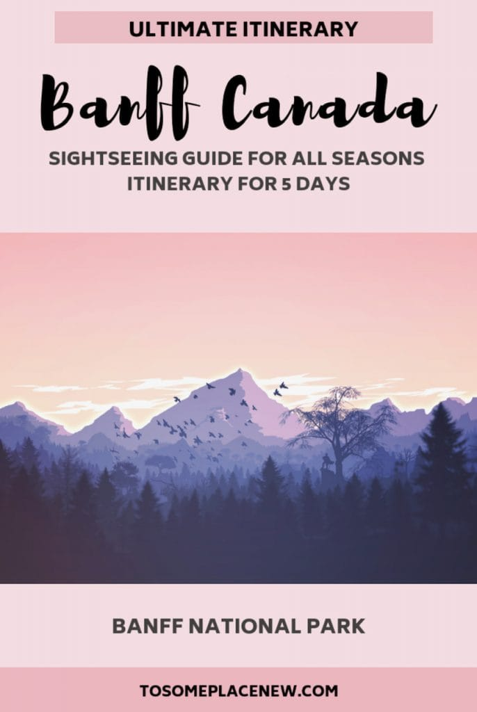 Banff National Park Things to do in 5 days - best Banff Itinerary. Banff National Park summer and winter tips, sightseeing, wedding and elopement, where to stay in Banff, northern lights, photography, camping, banff hot springs #banff #banffnationalpark #canada