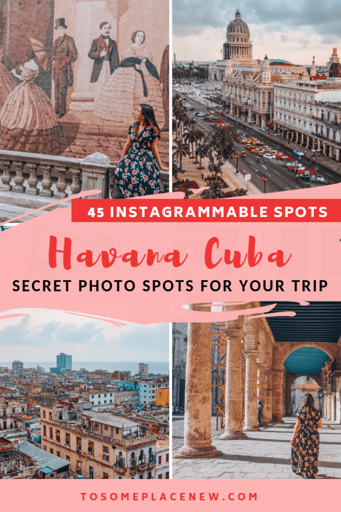 Havana Pictures - Havana Photography Spots that you need to know for your trip. Visit Old Havana Cuba lanes, take the classic car tour, see the Harbourfront and other neighbourhoods. Find all the hidden Havana Cuba photo spots and the best Instagrammable photo shots in Havana Cuba Itinerary #havana #cuba #cubaphotography #cubaphotos #havanaphotos
