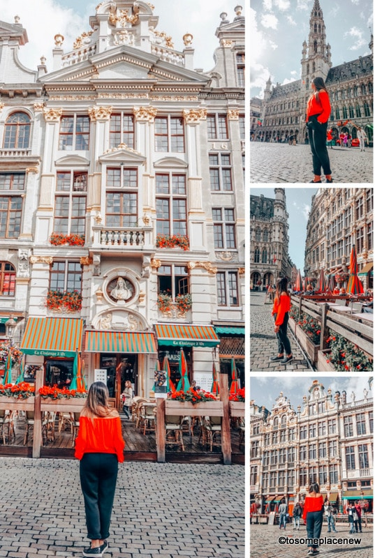 Grand Place Brussels. Brussels Belgium things to do in one day itinerary trip. Explore the Brussels Belgium grand place, comic strip, royal palace, try Belgium waffles and other food! Get some Brussels Belgium photography tips and spot ideas for your trip