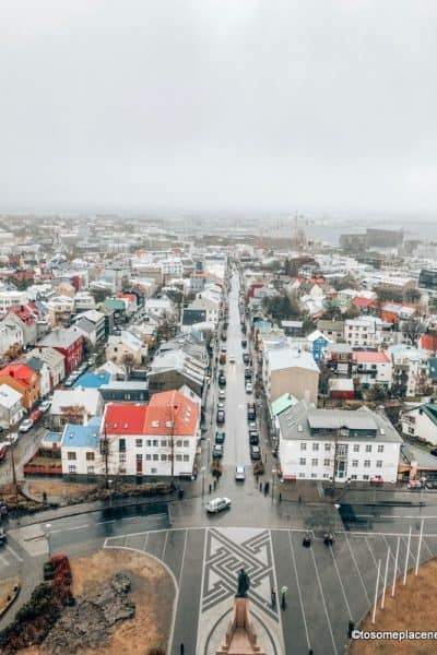 Views from Hallgrímskirkja church- Cheap and free things to do in Reykjavik
