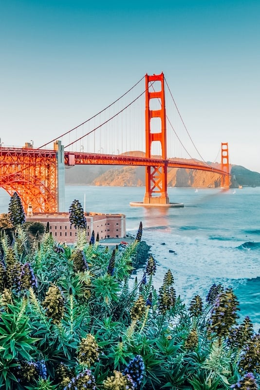 Golden Gate Bridge in 4 days in San Francisco itinerary