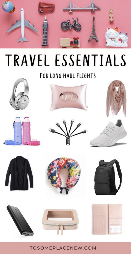 Carry on essentials for long haul flights