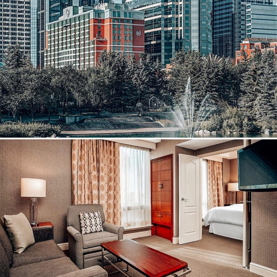 Where to stay in Calgary Alberta? Guide to Calgary Canada city and downtown hotels, with all budget options. Easy access to Banff National Park for day trips and adventure, restaurants and other things to do by day or night including special events like Stampede and more #Calgary #canada #hotelsincanada