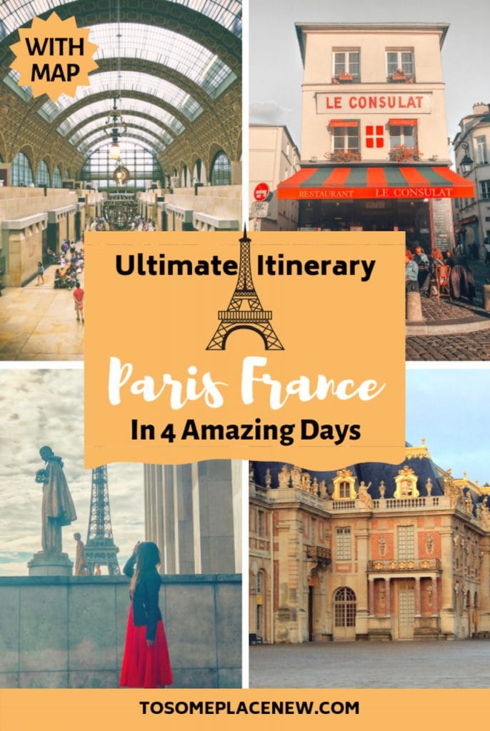 Perfect 4 day Paris Itinerary - Experience the best in sightseeing with things to do in 4 days in Paris, what to eat, where to stay and other travel tips #paris #parisitinerary