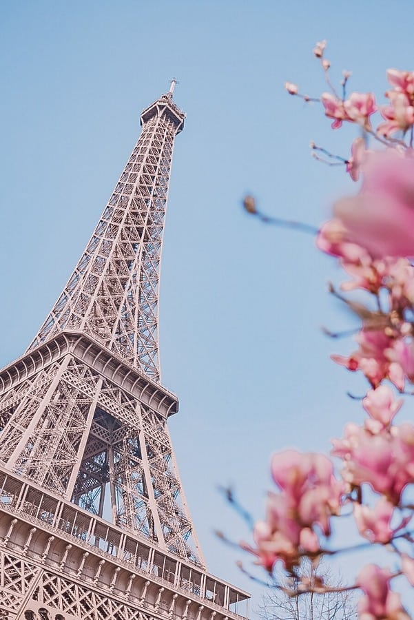Eiffel tower in spring in 4 days in Paris Itinerary