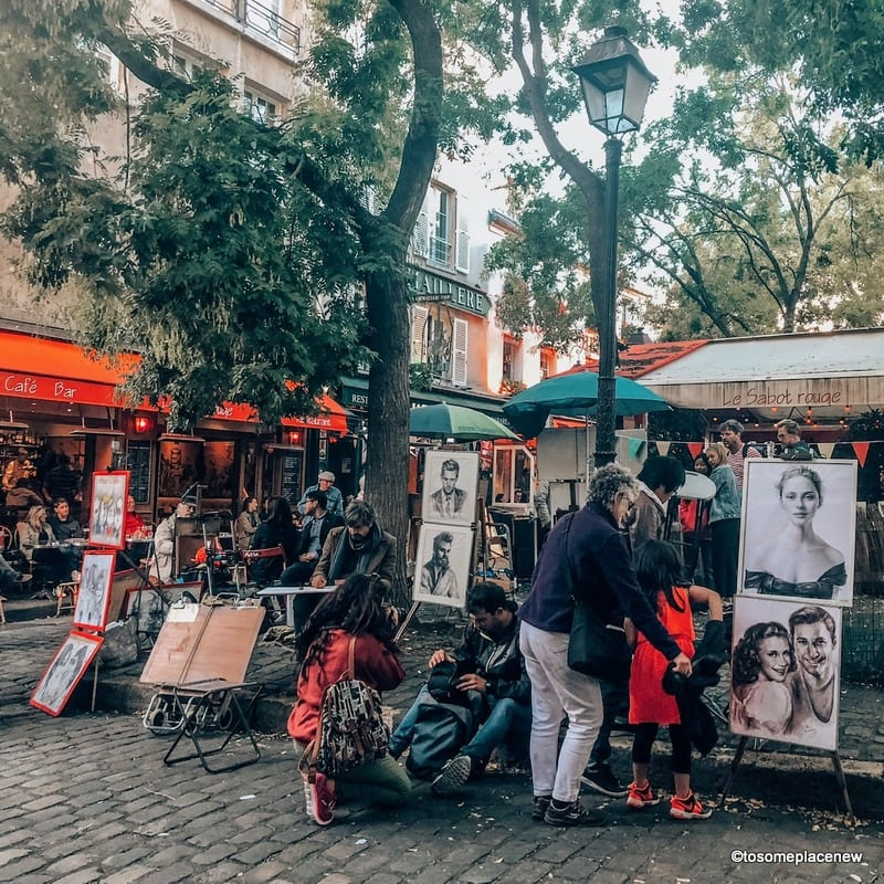 Artists Square Montmartre Glimpses of Montmartre