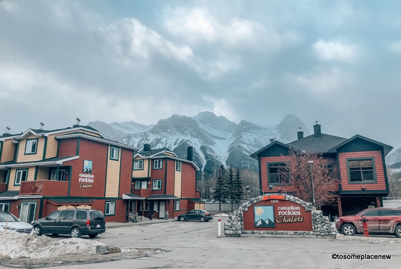 Canadian Chalets in Canmore with three sisters range
