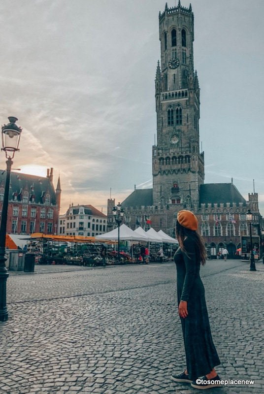 Belfort Tower - Get ready to be mesmerized by gingerbread houses, medieval Markt Square, romantic canal tour, Belgian waffles and beer tour in one day in Bruges Itinerary.