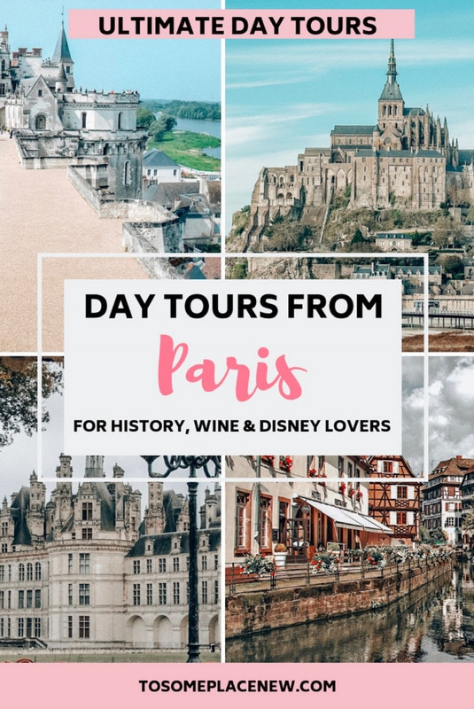 Best day tours from Paris for history lovers. Learn about the World War II, French Revolution, Monet and many medieval chateaus and castles - all day trips from Paris