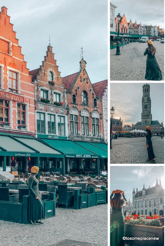 Bruges one day itinerary - Get ready to be mesmerized by gingerbread houses, medieval Markt Square, romantic canal tour, Belgian waffles and beer tour in one day in Bruges Itinerary.