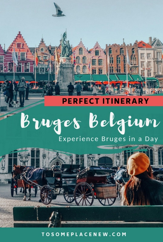Bruges Belgium Things to do in one day | Bruges Itinerary one day explore the old market square | Markt Square | Take a Bruges Canal Tour | Bruges Brewery Tour | Eat Belgium waffles, Belgium chocolates | Visit Church of Holy Blood | Day Trip from Brussels to Bruges one day itinerary #bruges #belgium #europe
