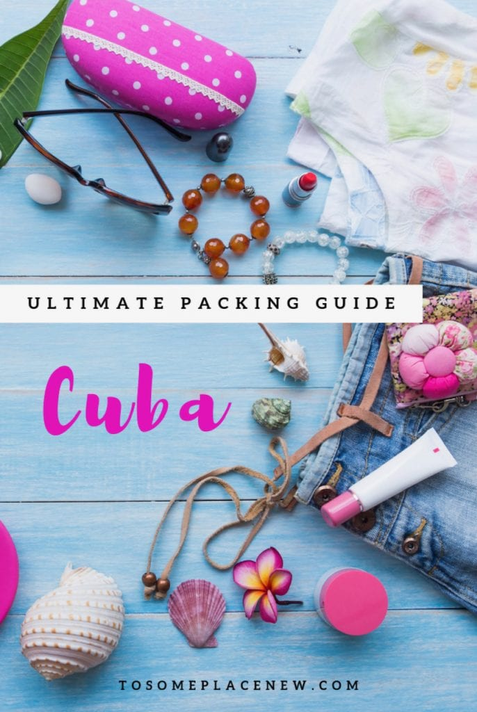 Cuba Packing List tips with what to wear in Cuba all inclusive resorts and Cuba Vacation outfit ideas | Cuba Packing list products and travel essentials #