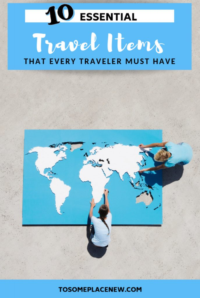 10 Essential travel items packing lists that every traveler must own. Keep these essential travel item tips and ideas handy and invest in them, you will find it value year after year of travel. Essential travel items life time #traveltips #essentialtravelitems