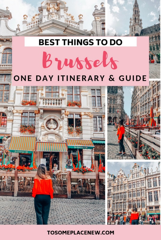 Brussels Belgium things to do in one day itinerary trip. Explore the Brussels Belgium grand place, comic strip, royal palace, try Belgium waffles and other food! Get some Brussels Belgium photography tips and spot ideas for your trip #brusselsbelgium #traveltips