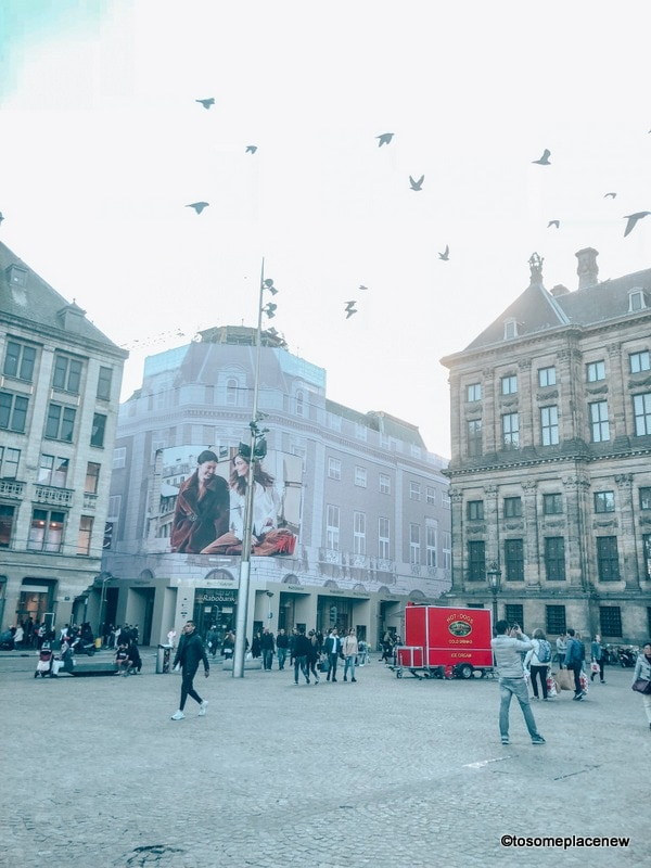 At the Dam Square