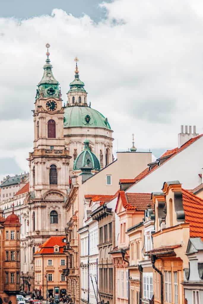 View of Prague in Spend 14 days in Munich Prague Vienna Budapest and Bratislava - the best Central Europe Itinerary 2 weeks, full of history & culture.