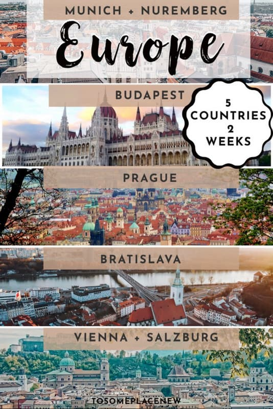 Central Europe itinerary 2 weeks Munich Prague Vienna Budapest Bratislava