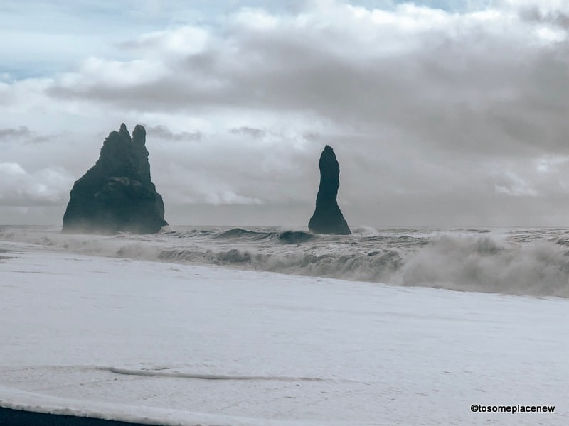 Black sand beaches in South Coast Tour of Iceland