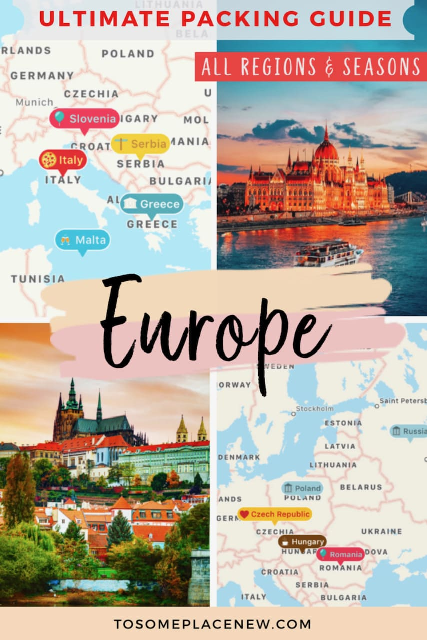 Europe Packing Guide
