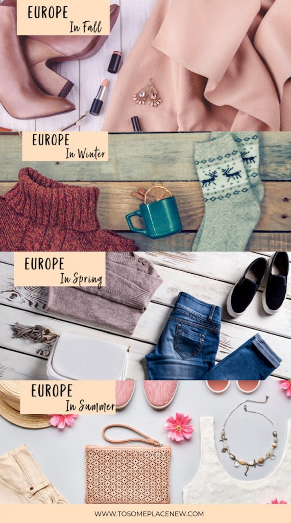 Packing List for Europe for all seasons - clothes and tips